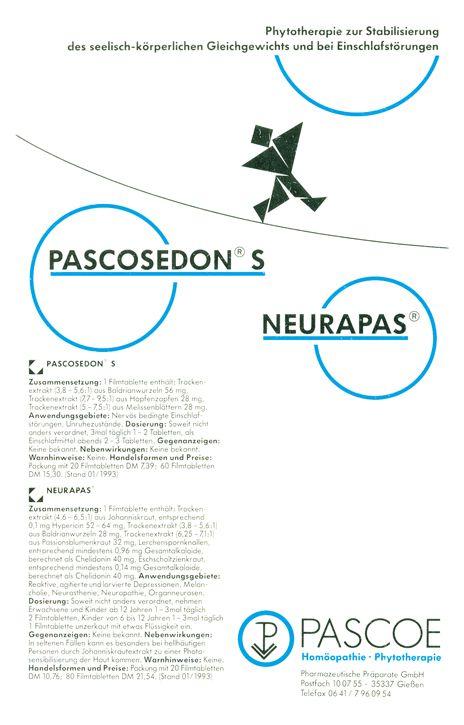 Historische Anzeige Pascoesedon-Neurapas 1990
