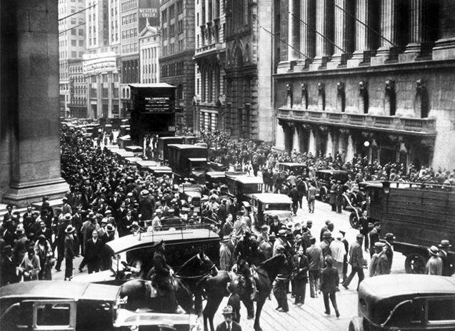 Die Wallstreet am 24. Oktober 1929