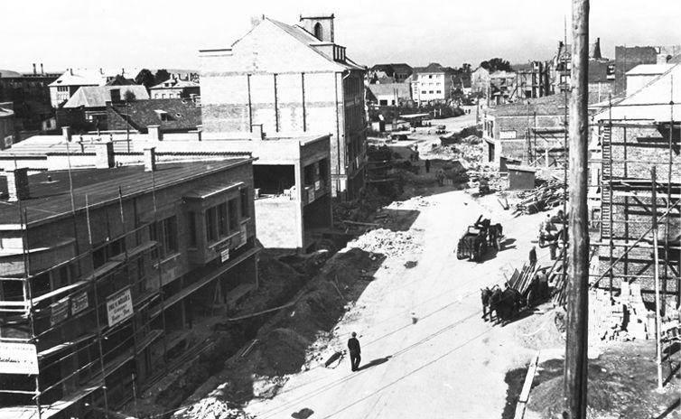 Bei Kriegsende lag fast die gesamte Gießener Innenstadt in Schutt und Asche