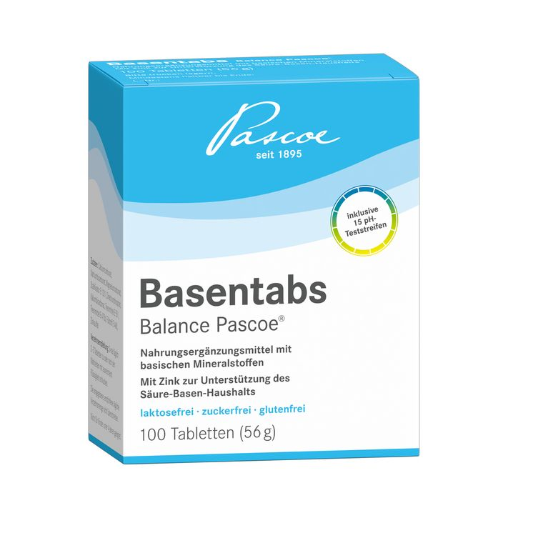 Basentabs pH-balance Pascoe 100 Tabletten Packshot PZN 02246478