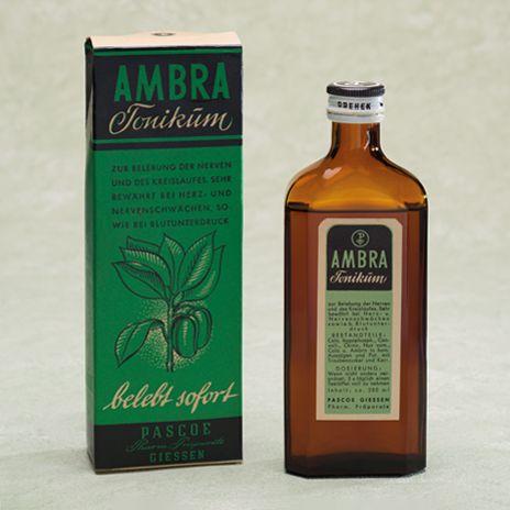 Historische Produktabbildung Ambra
