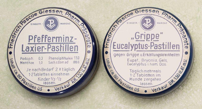 Historische Produktabbildung Pastillen