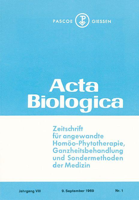 Actabiologica 1969