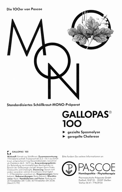 Historische Anzeige Gallopas 1993