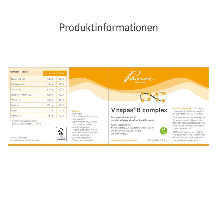 Vitapas B complex Produktinformationen