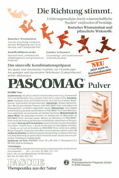 Historische Anzeige Pascomag 1990