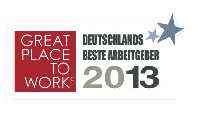 Great Place to Work Auszeichnung 2013 für Pascoe