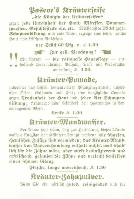Prospekt von Kräutern 1905