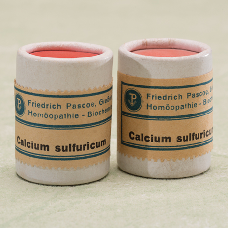 Historische Produktabbildung Calciumsulfuricum